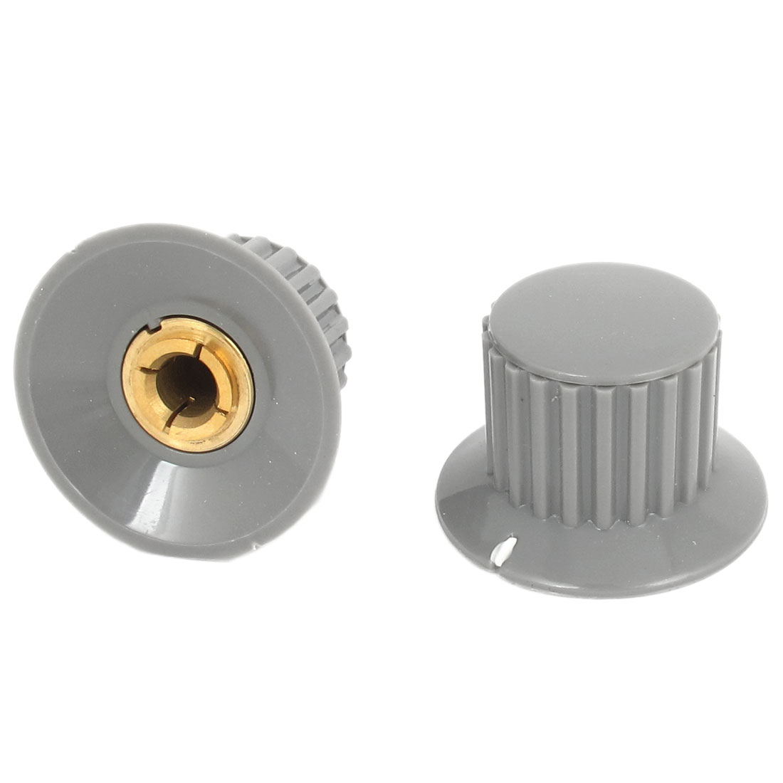 2 Pcs Replacement 6mm Dia Audio Volume Control Potentiometer Knobs 32mmx21mm