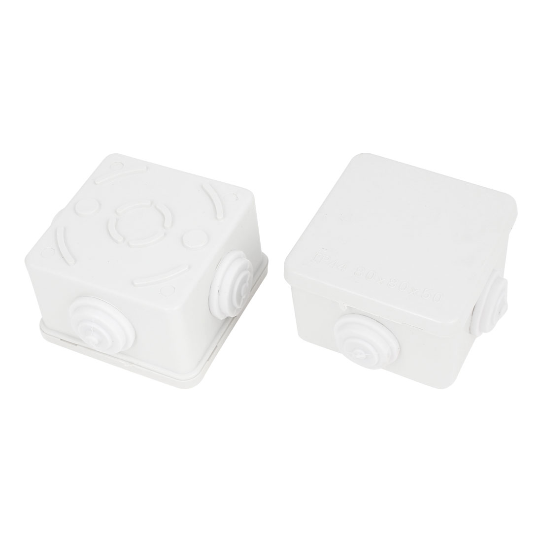 2 Pcs ABS IP44 Waterproof Square Junction Box Plain Press on Lid 75 x 75 x 50mm