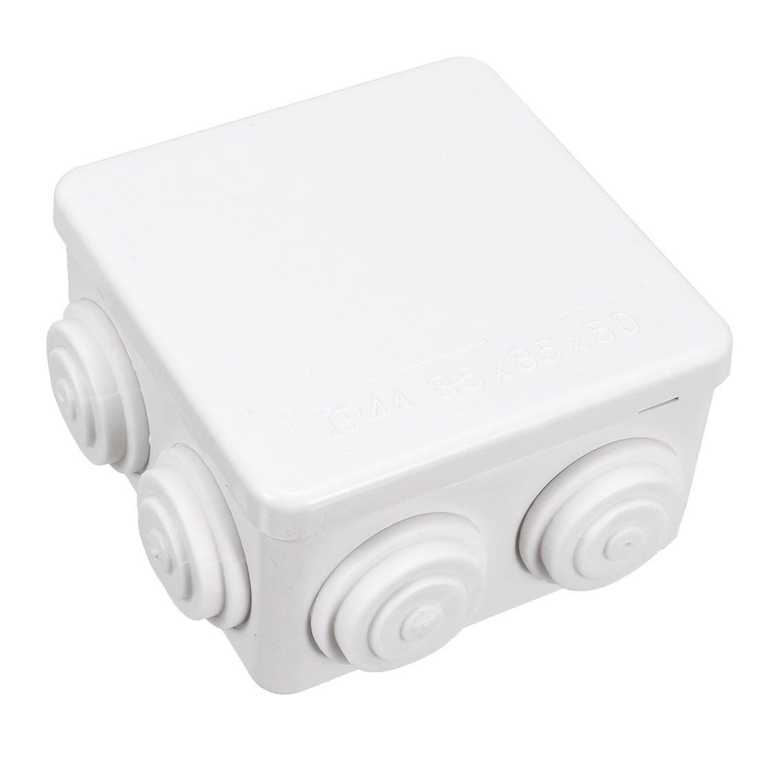 2 Pcs ABS IP44 Waterproof Square Junction Box Plain Press on Lid 85x85x50mm