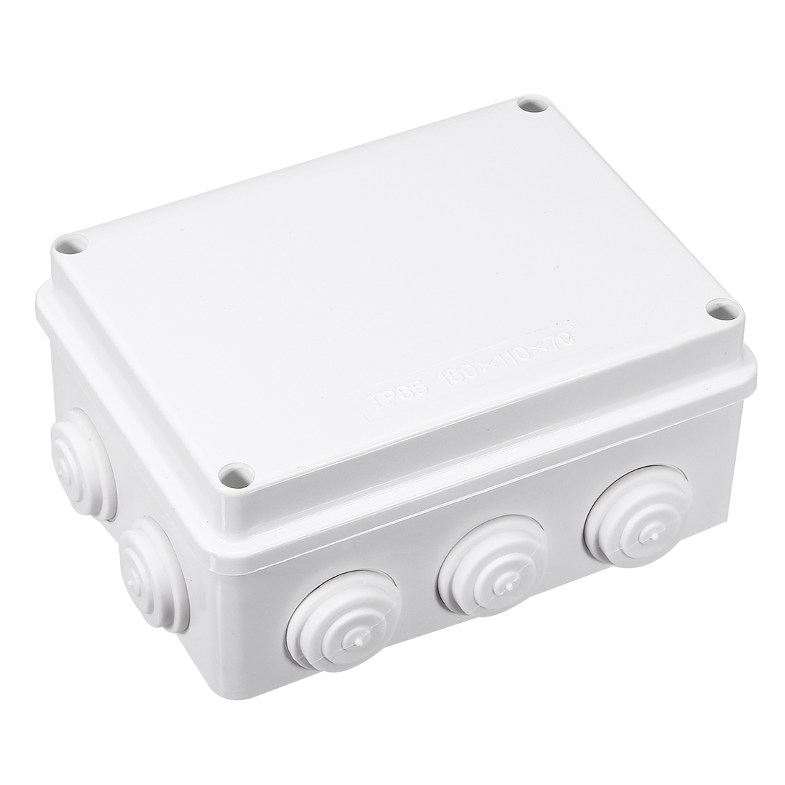 ABS IP65 Waterproof 28mm Hole 10 Cable Entries Junction Box 150x110x70mm