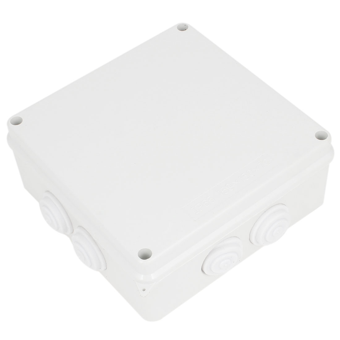 ABS IP65 Waterproof Square Junction Box Plain Press on Lid 150x150x70mm