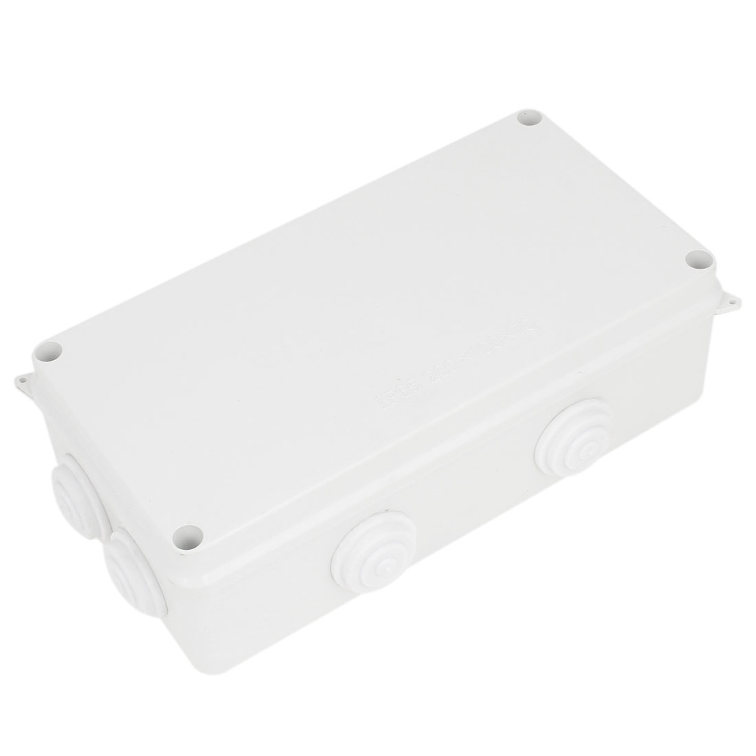 ABS 28mm Hole 8 Cable Entries Junction Box 200x100x70mm
