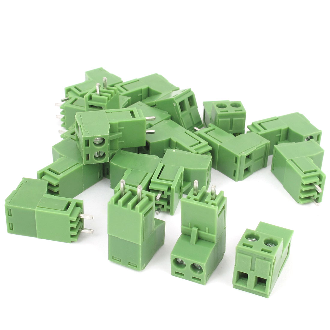 20pcs 300V 15A 5.08mm Pitch 2-Position PCB Screw Terminal Block Connector