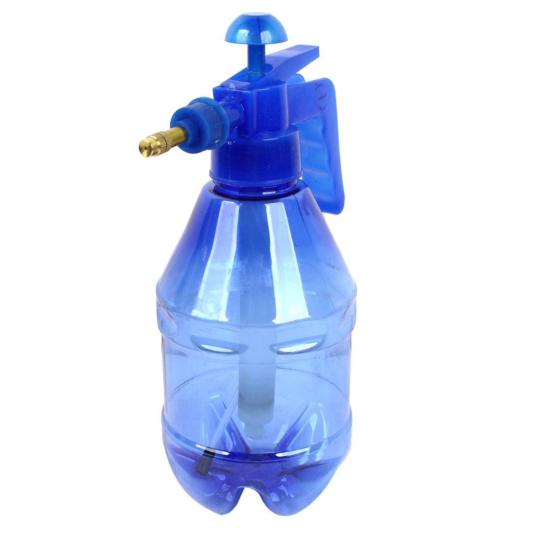 Car Blue Clean Washing Watering 0.8L Plastic Spray Spraying Bottle Water Pressure Sprayer