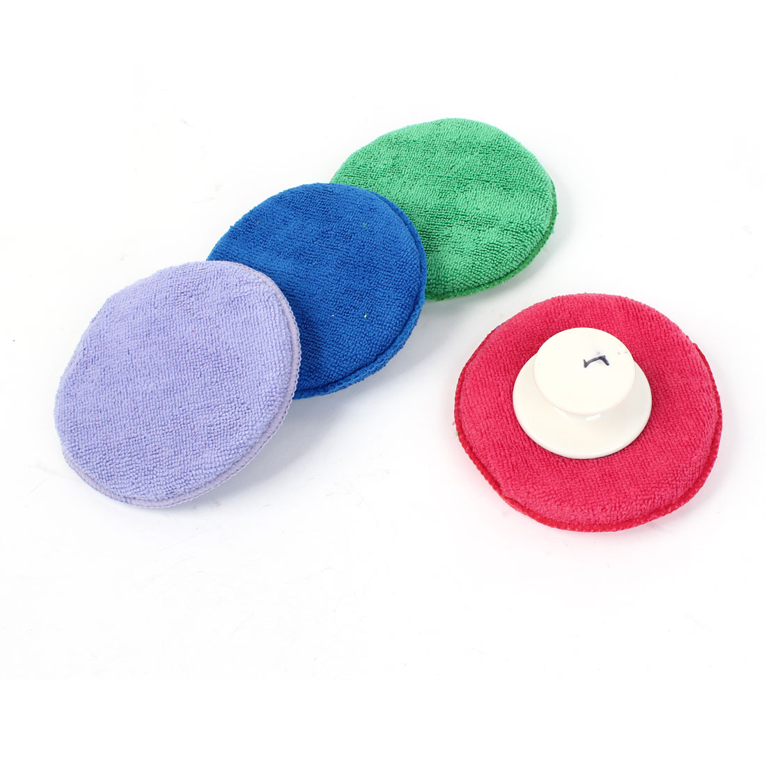 4 Pcs Round Sponge Washing Waxing Polishing Wheel Pads 13cm Dia for Auto