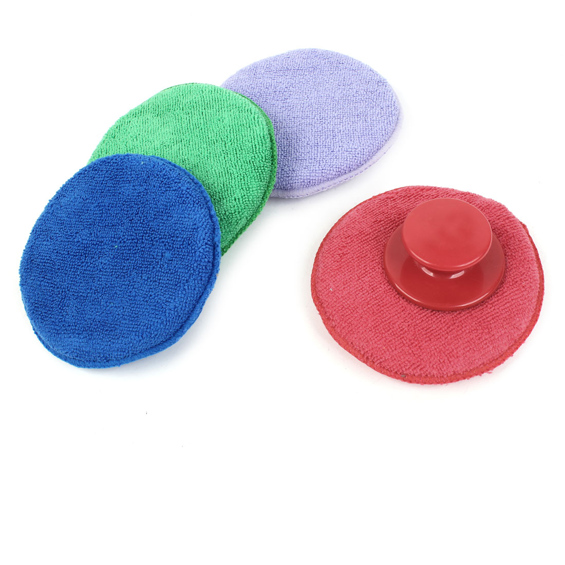 4 Pcs 13cm Dia Round Fleece Sponge Polishing Wheel for Auto Car