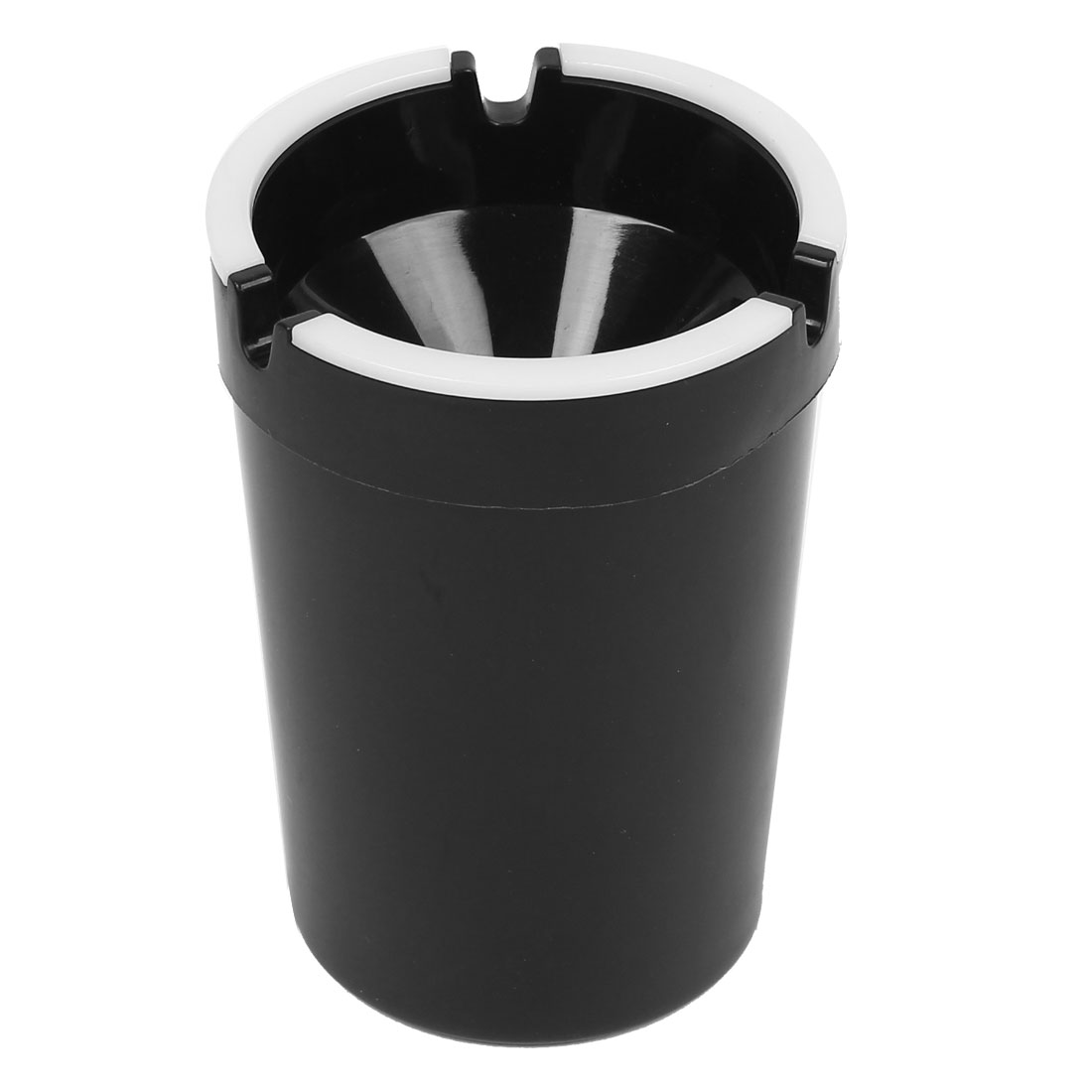 Car White Black Noctilucence Cup Shape Cigar Cigarette Ash Holder Ashtray Container