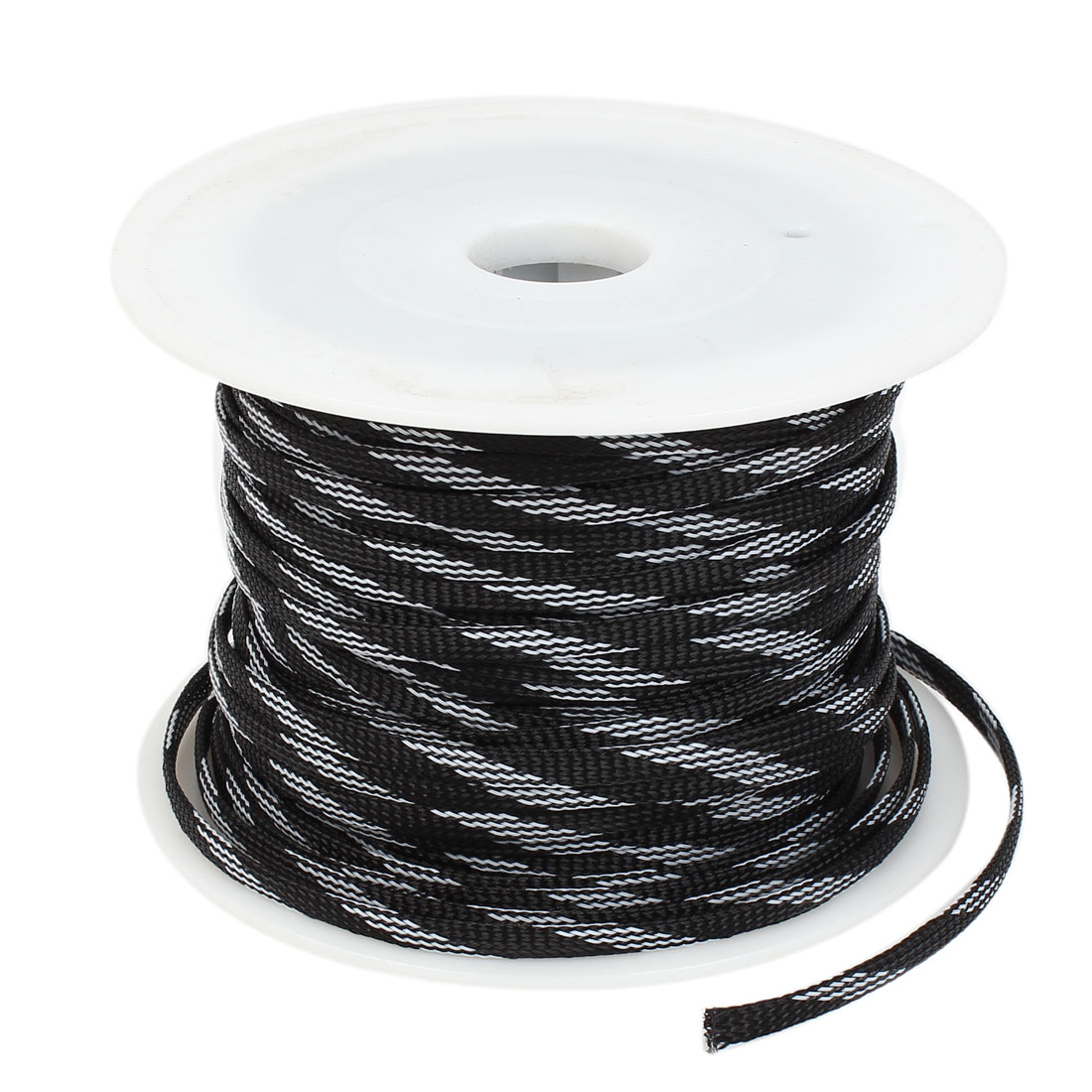 Auto Audio Sleeving Braided Polyester Cable Cover Protector 100m Long 7mm Width