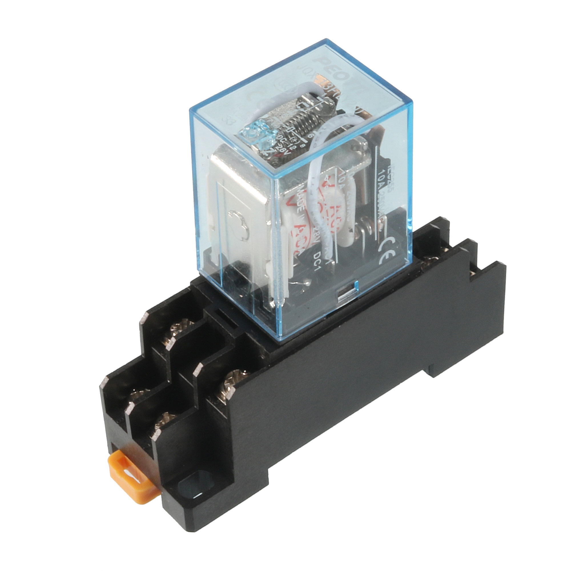35mm DIN Rail DPDT 8 Pins General Purpose Power Relay AC 24V Coil w Socket