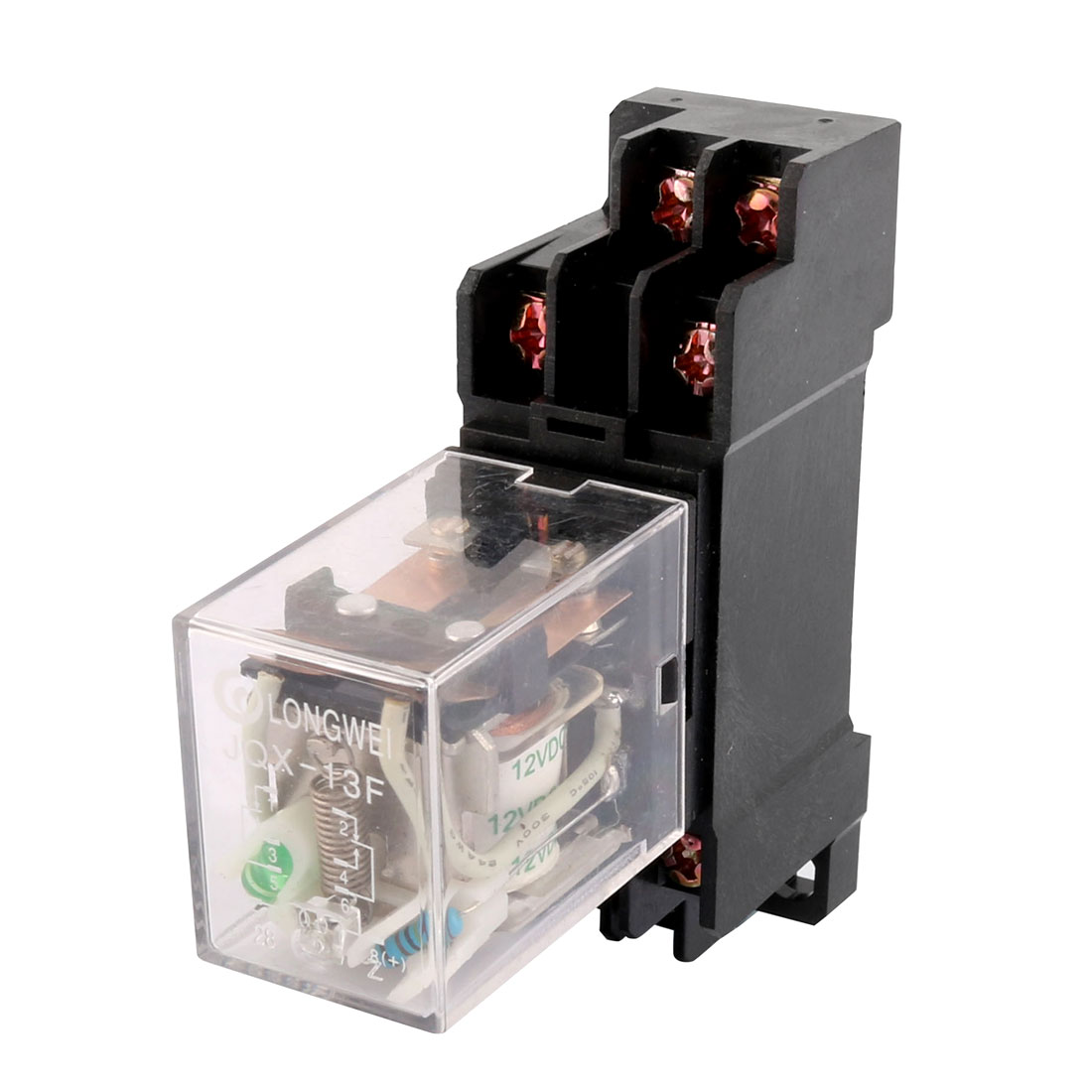 DC12V Coil 8 Screw Terminal Electromagnetic Power Relay 10A w Socket