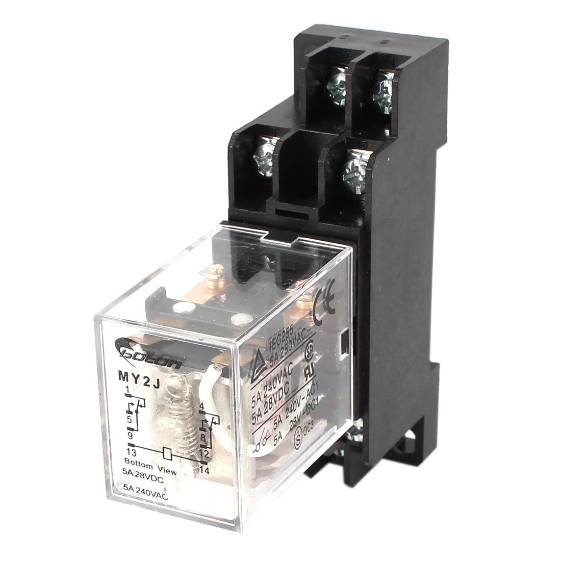 MY2J-AC110V Coil General Purpose Power Relay 8Pin 5A AC240V DC28V w Socket