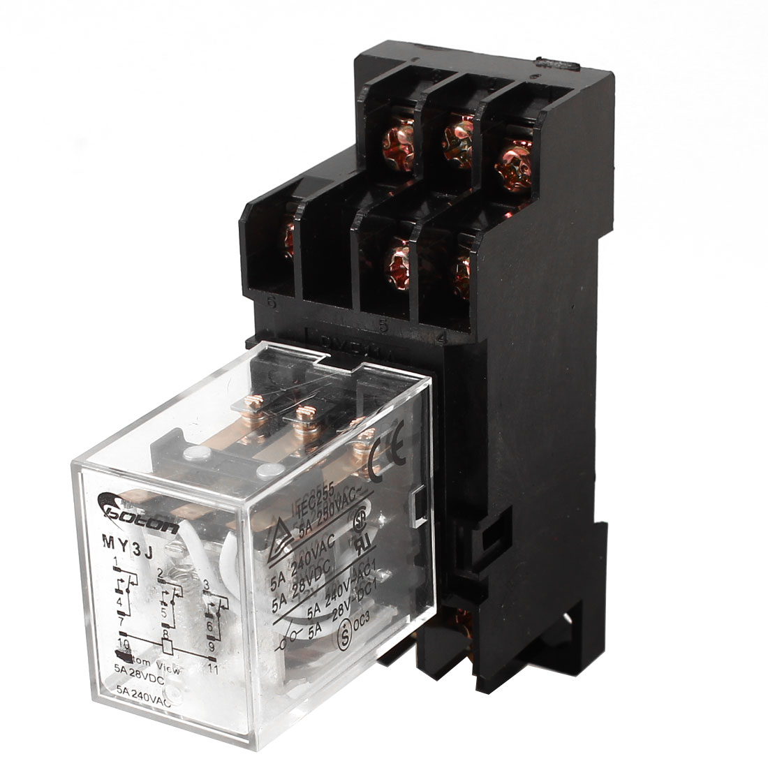 MY3J-DC12V Coil General Purpose Power Relay 11 Pin AC 240V DC 28V
