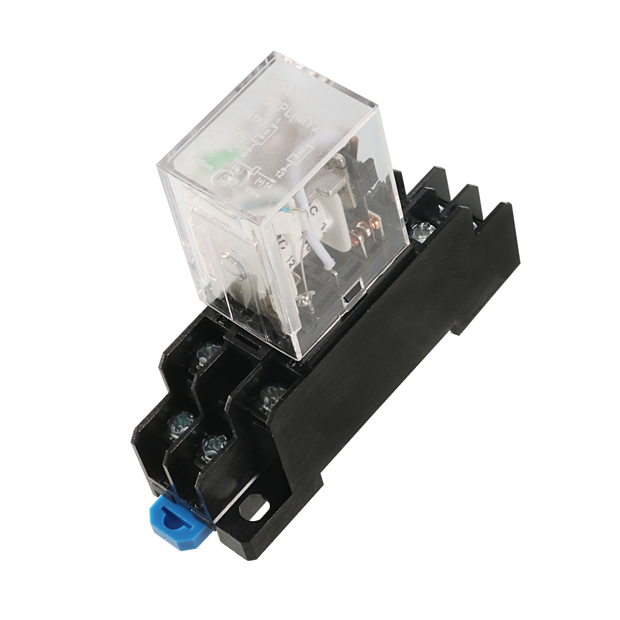 MY2J-DC12V Coil 8 Pin 35mm DIN Rail Electromagnetic Relay Power Relay