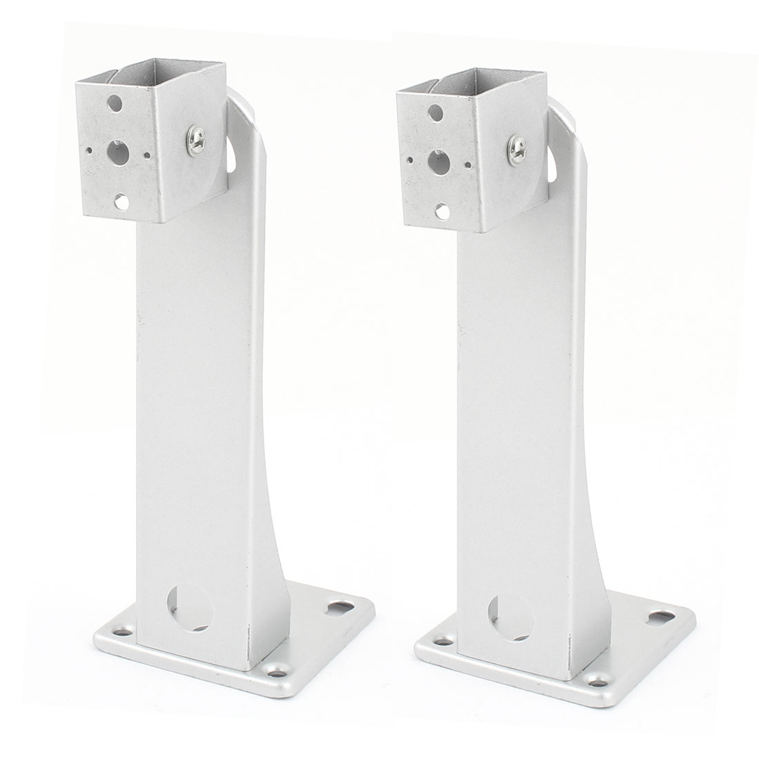 2 Pcs Silver Tone Ceiling Mounting Stand Holder CCTV Camera Bracket