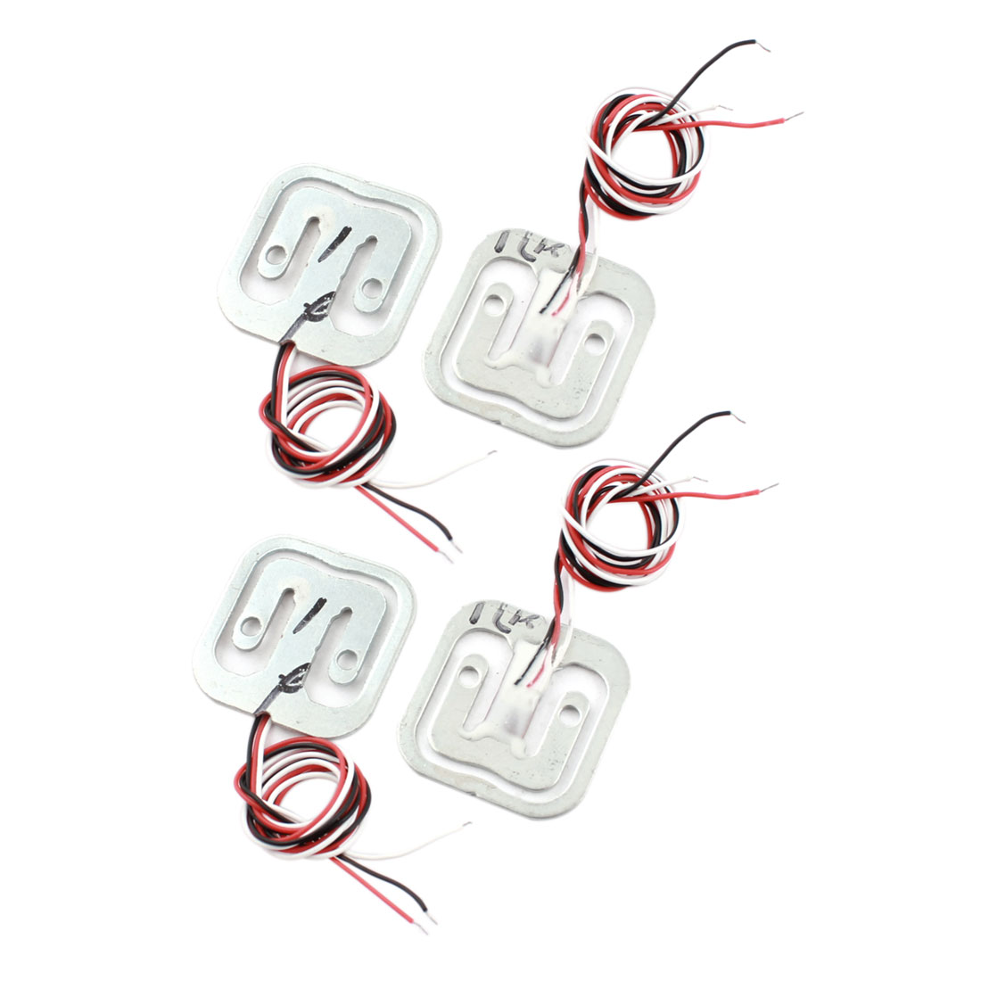 "4Pcs 4x5Kg 8"" 3-Wired Half Bridge Scale Electronic Weighing Resistance Train Sensor"