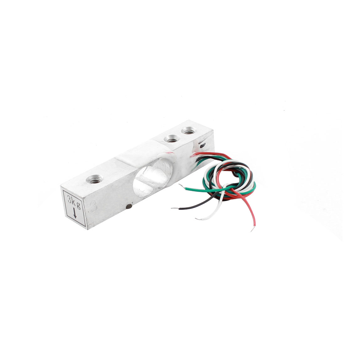 3Kg 6.6lb 3mm 3-Hole 4-Wired Aluminium Alloy Rectangle Mini Load Cell Weighting Pressure Sensor
