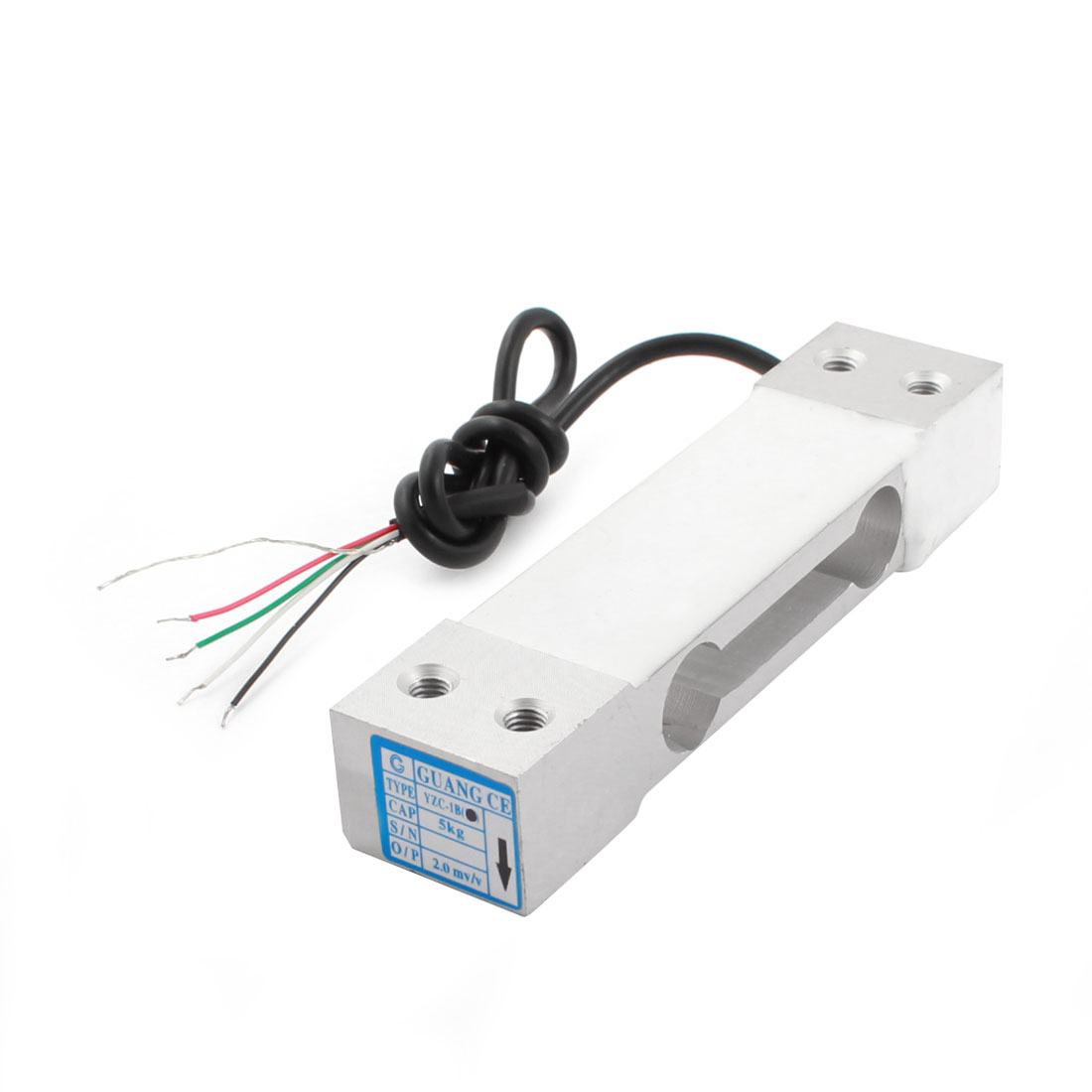 Electronic Platform Scale Part Rectangle Aluminium Alloy Load Cell Weight Pressure Sensor 5Kg 11lb YAC-1B