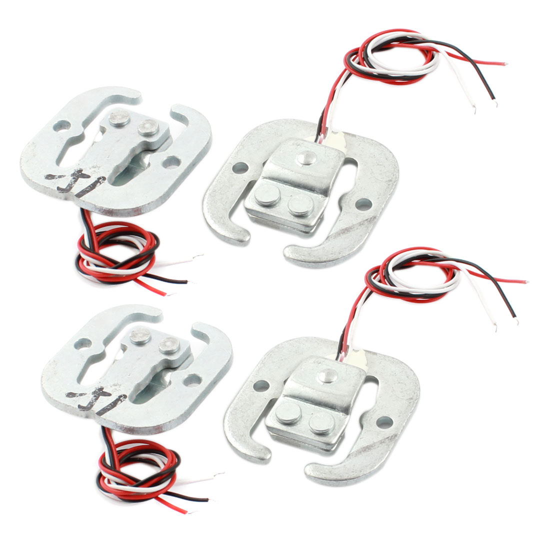 "4Pcs 6"" 3-Wire Half Bridge Type Body Load Cell Scale Electronic Weighing Sensor 50Kg"