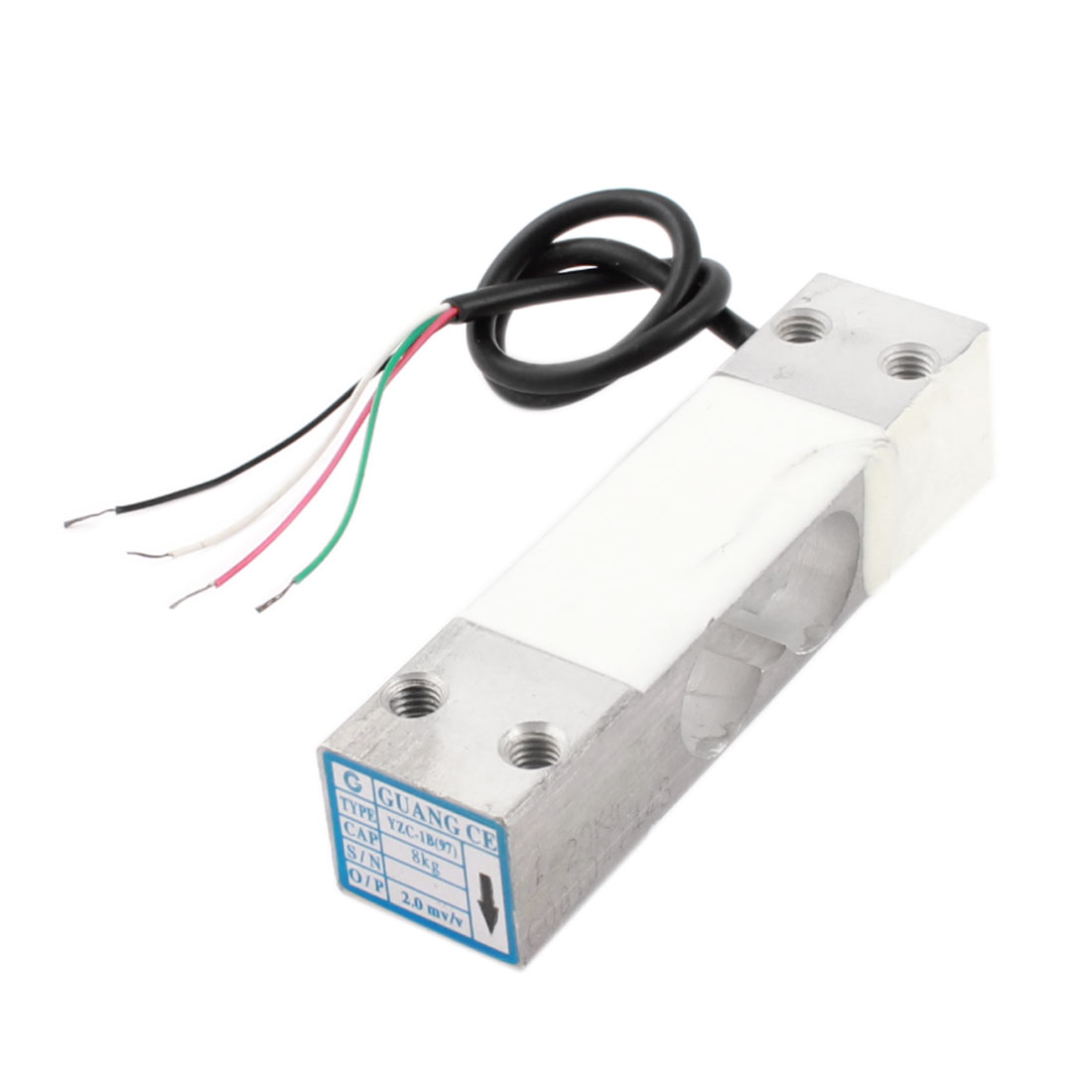 Electronic Platform Scale Part Rectangle Aluminium Alloy Load Cell Weighting Pressure Sensor 8Kg 17.6lb YZC-97