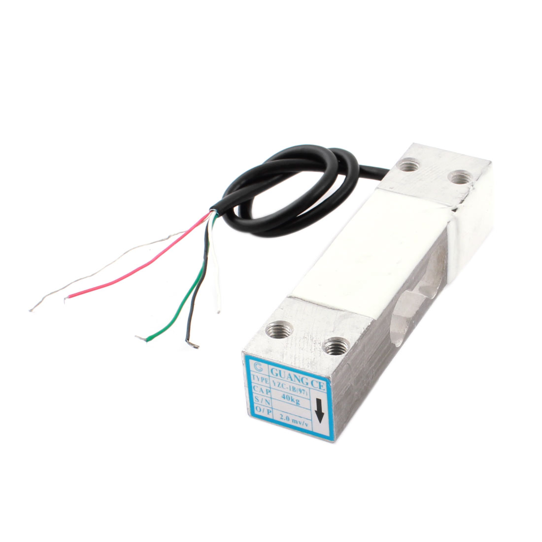 Electronic Platform Scale Part Rectangle Aluminium Alloy Load Cell Weight Pressure Sensor 40Kg 88.2lb YZC-97