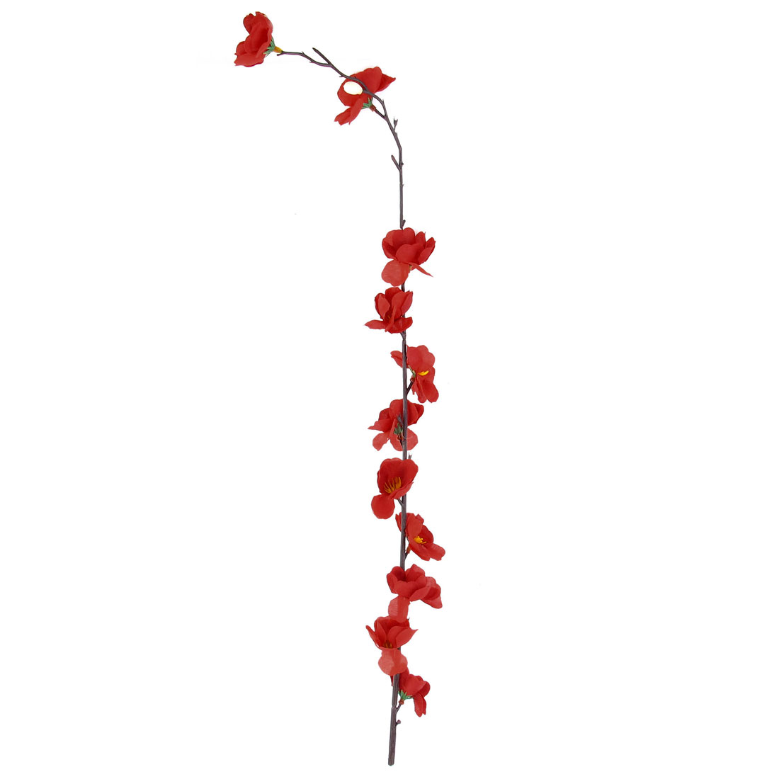 Wedding Party Artificial Fabric Red Flower Bouquet 53cm Height