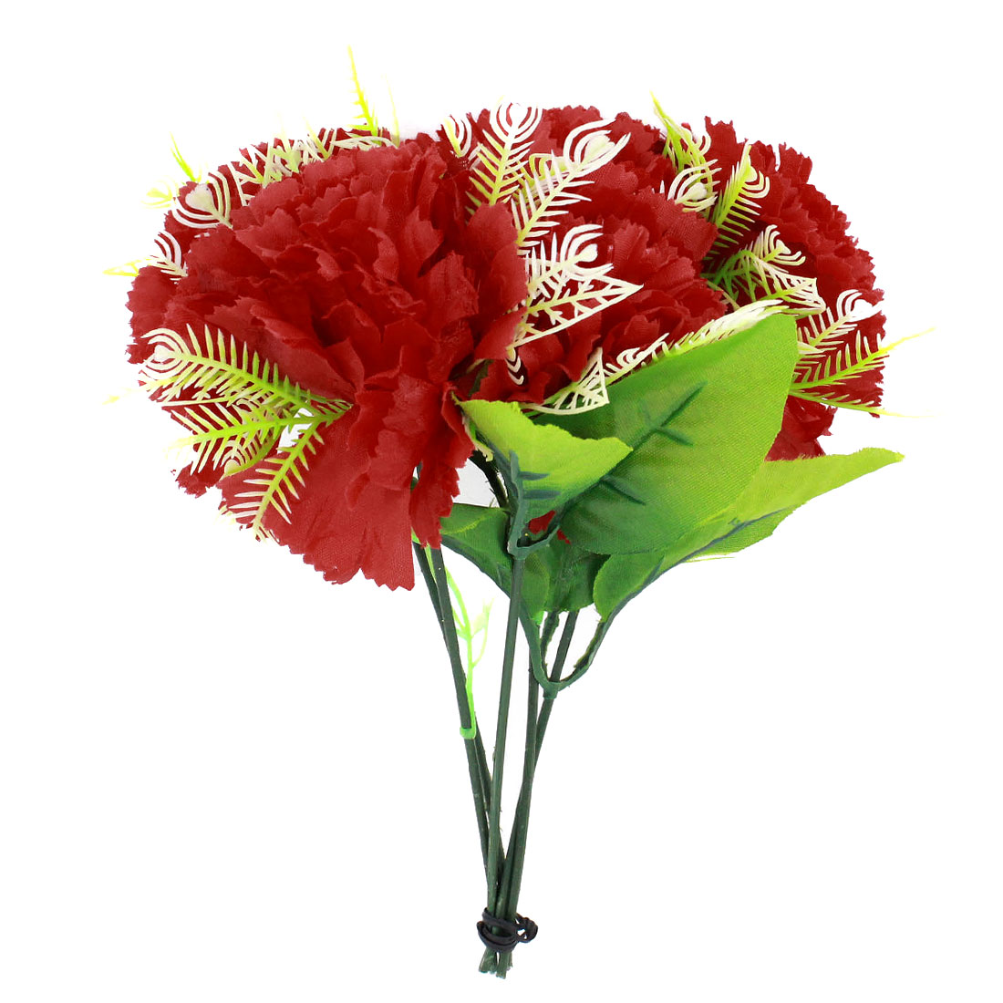Household Bridal Emulational Plastic Floral Bouquet Ornament Red