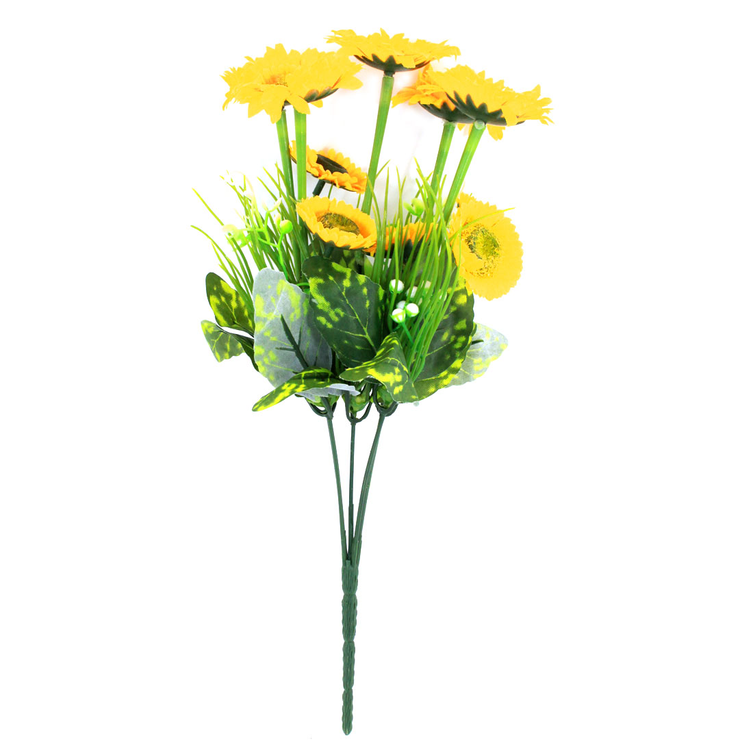 Living Room Decorative Simulation Plastic Mum Flower Bouquet Yellow