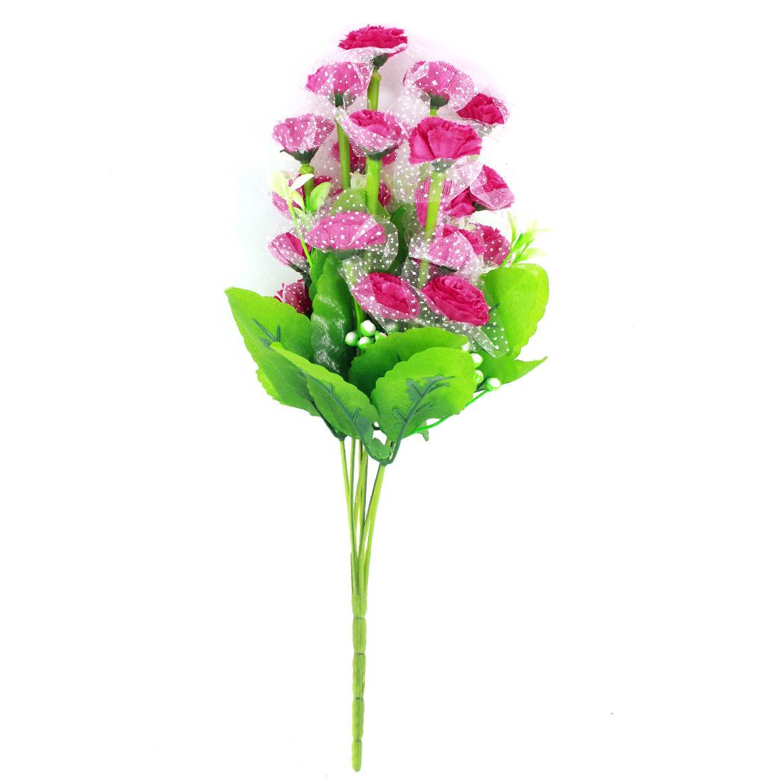 Bedroom Dormitory Decorative Simulation Plastic Flower Bouquet Fuchsia