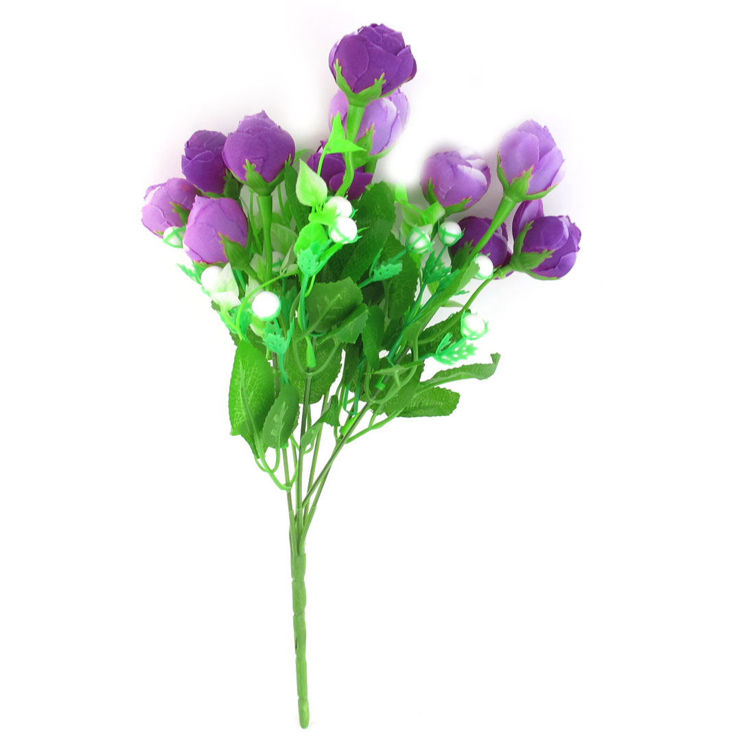 Multi Foam Stamen Purple Artificial Flower Bouquet Wedding Party Ornamnet
