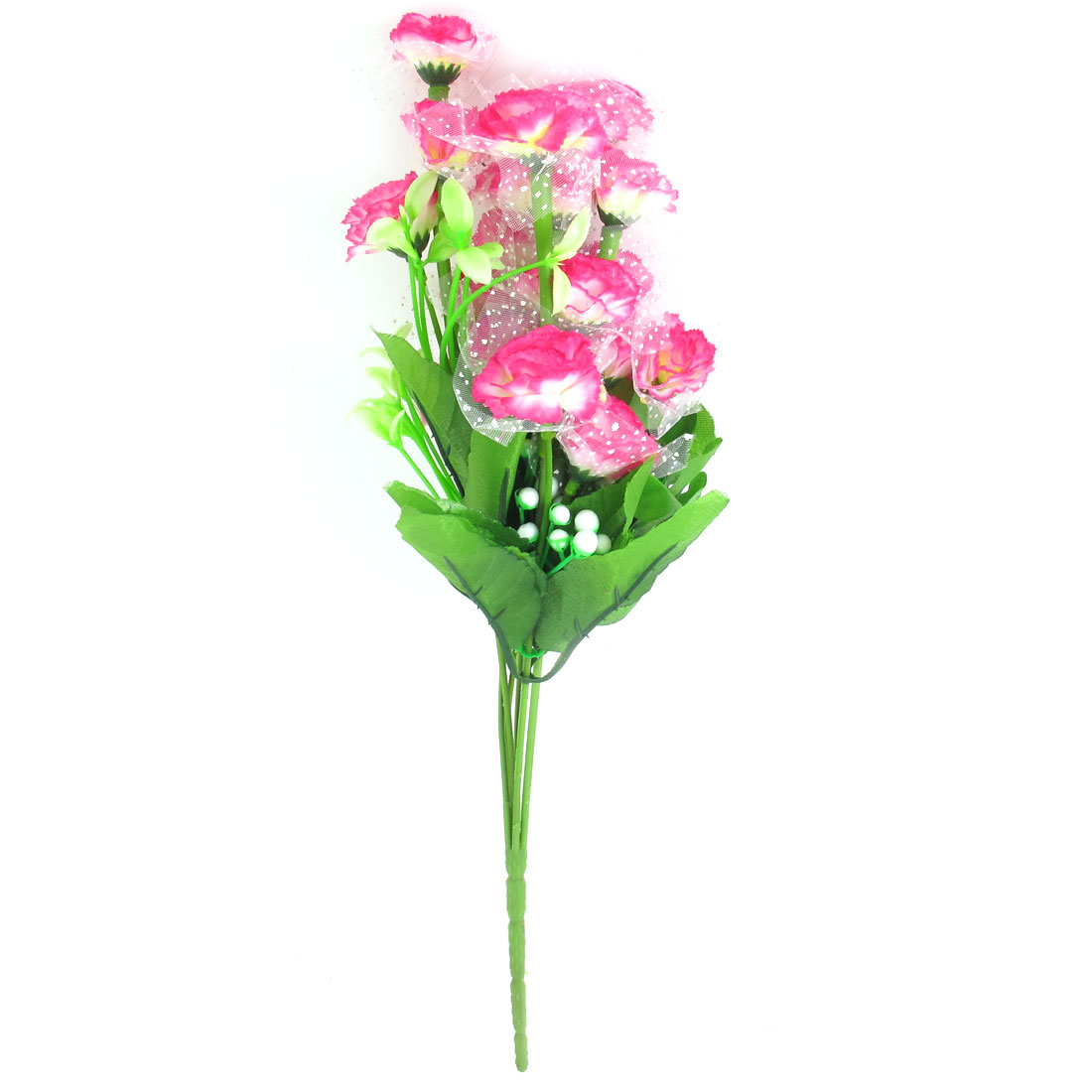 Home Office Decor Artificial Fabric Flower Bouquet Pink 35cm High