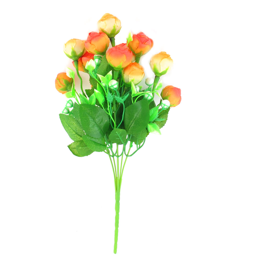 Artificial Green Leaf Rose Flower Bouquet Wedding Party Ornament