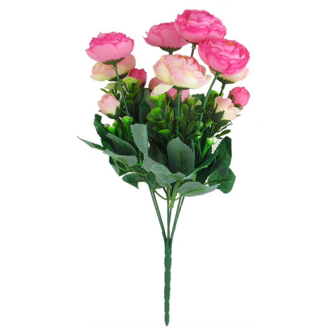 Artificial Emulational Green Leaf Fabric Flower Bouquet Party Wedding Decor