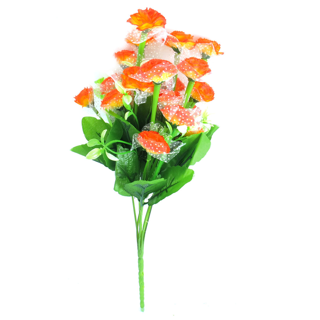 Party Wedding Emulational Orange Fabric Flower Bouquet 35cm Height