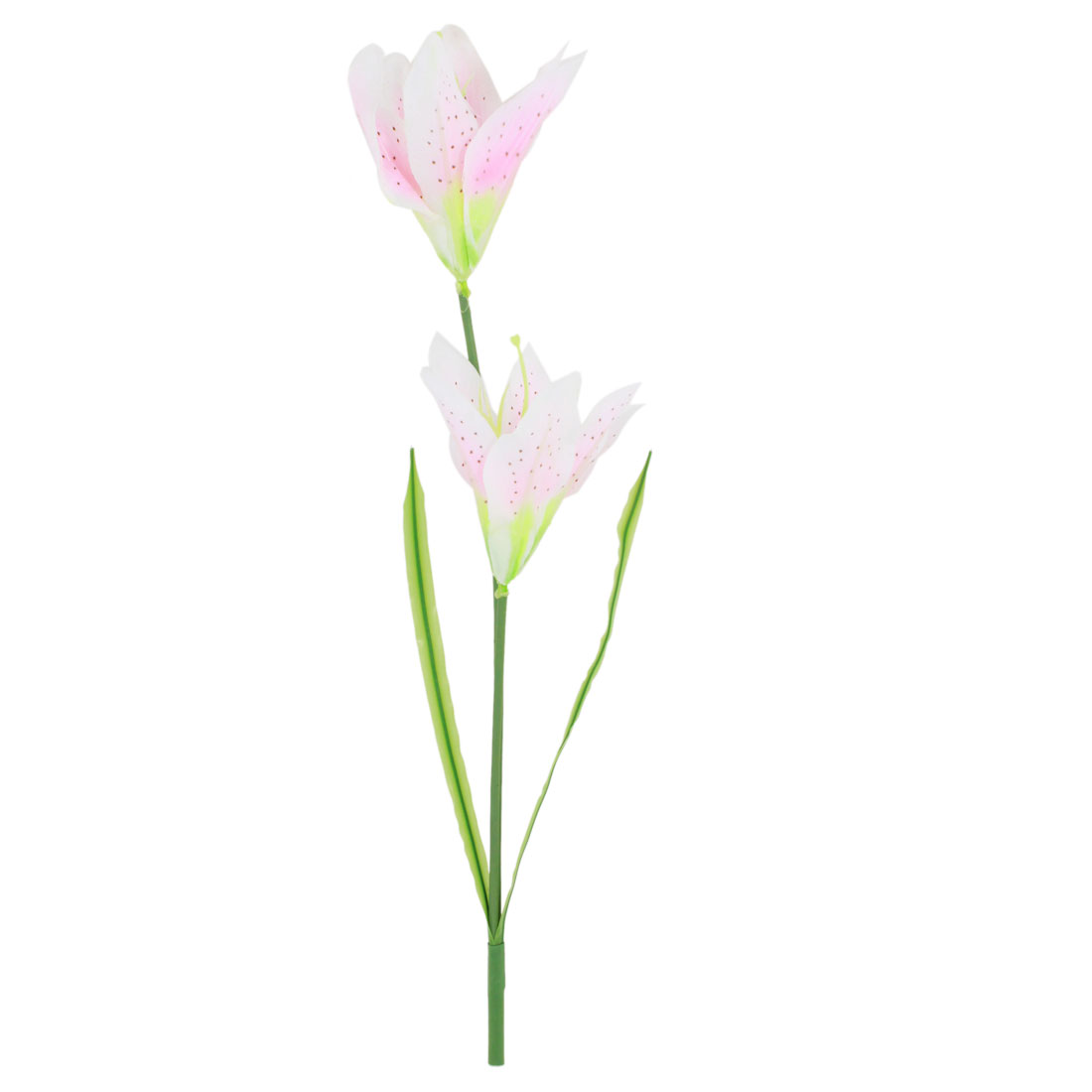 Home Living Room Ornament Simulation Plastic Lily Flowers Pale Pink 39cm