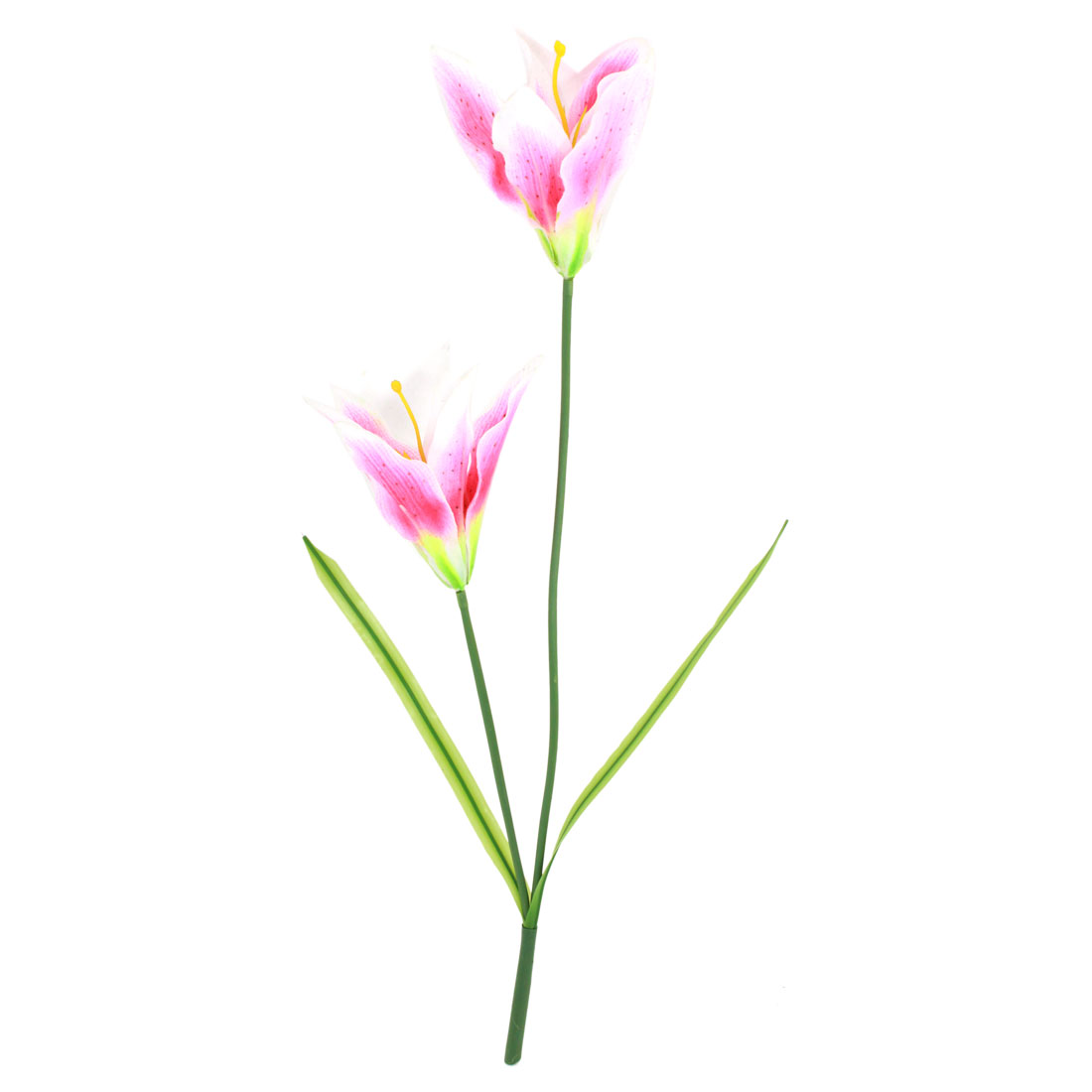Decorative Living Room Party Simulation Plastic Lily Flowers Pink