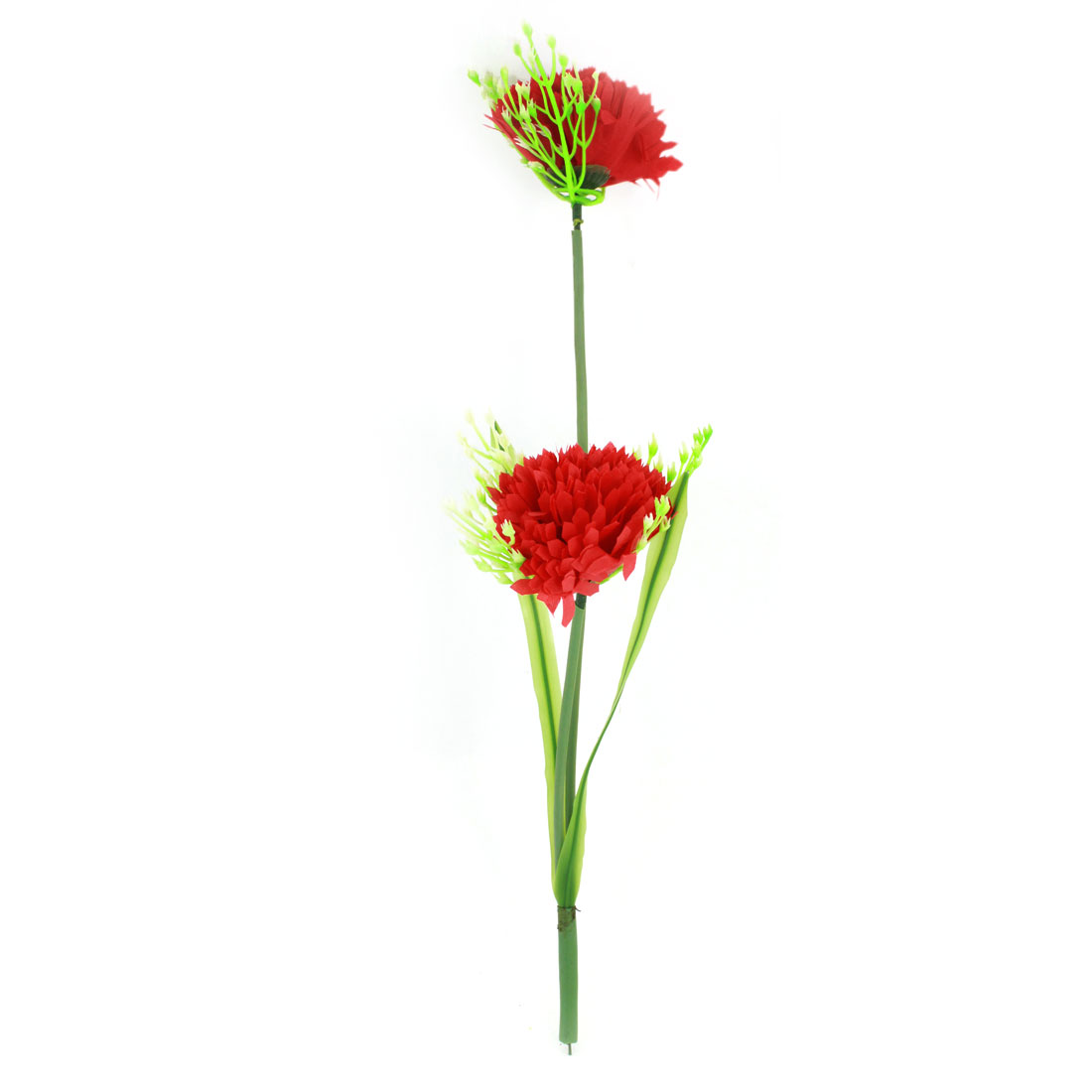 Living Room Table Simulation Plastic Red Flowers Ornament 35cm High