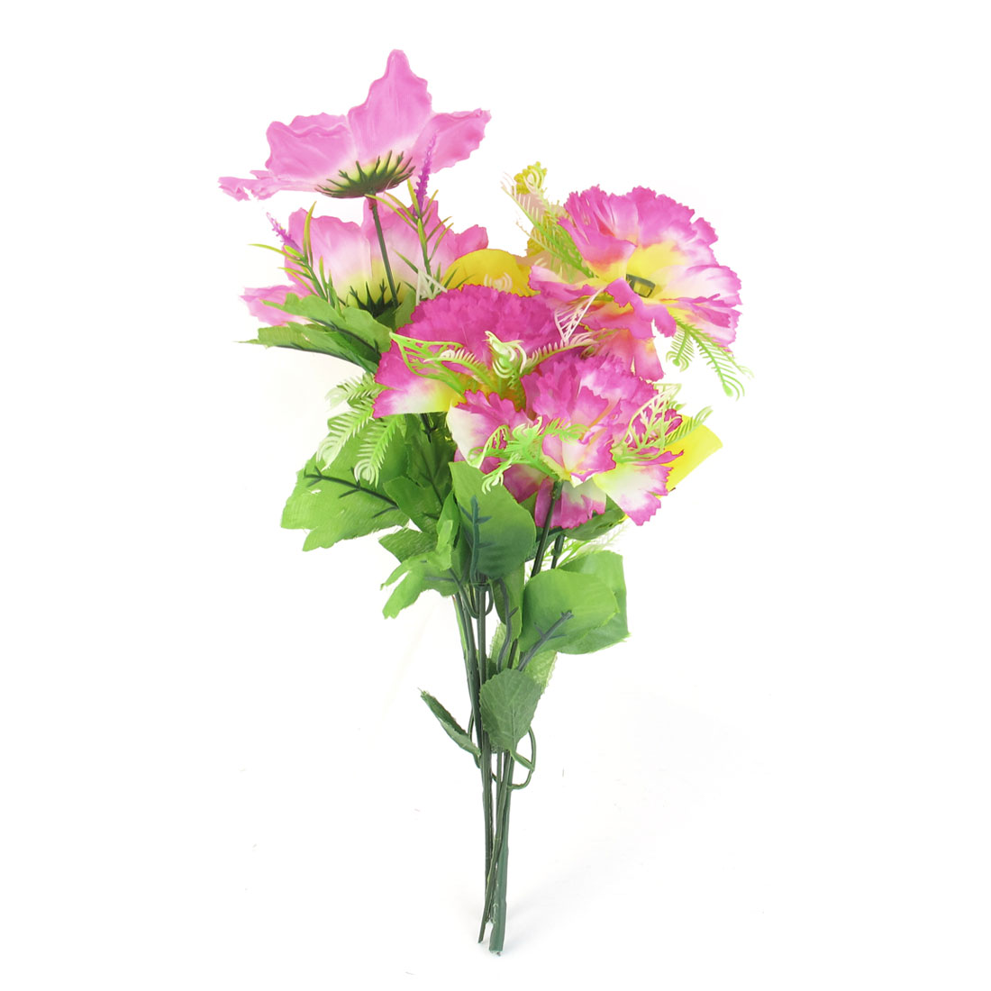 "Green Pink Blooming Artificial Flower Home Decor Party Bouquet 15.7"" High"