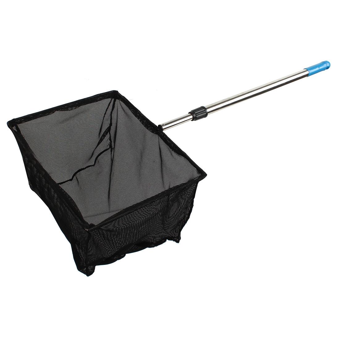 35cm x 28cm Hoop 2 Sections Telescoping Stainless Steel Handle Fishing Landing Dip Net