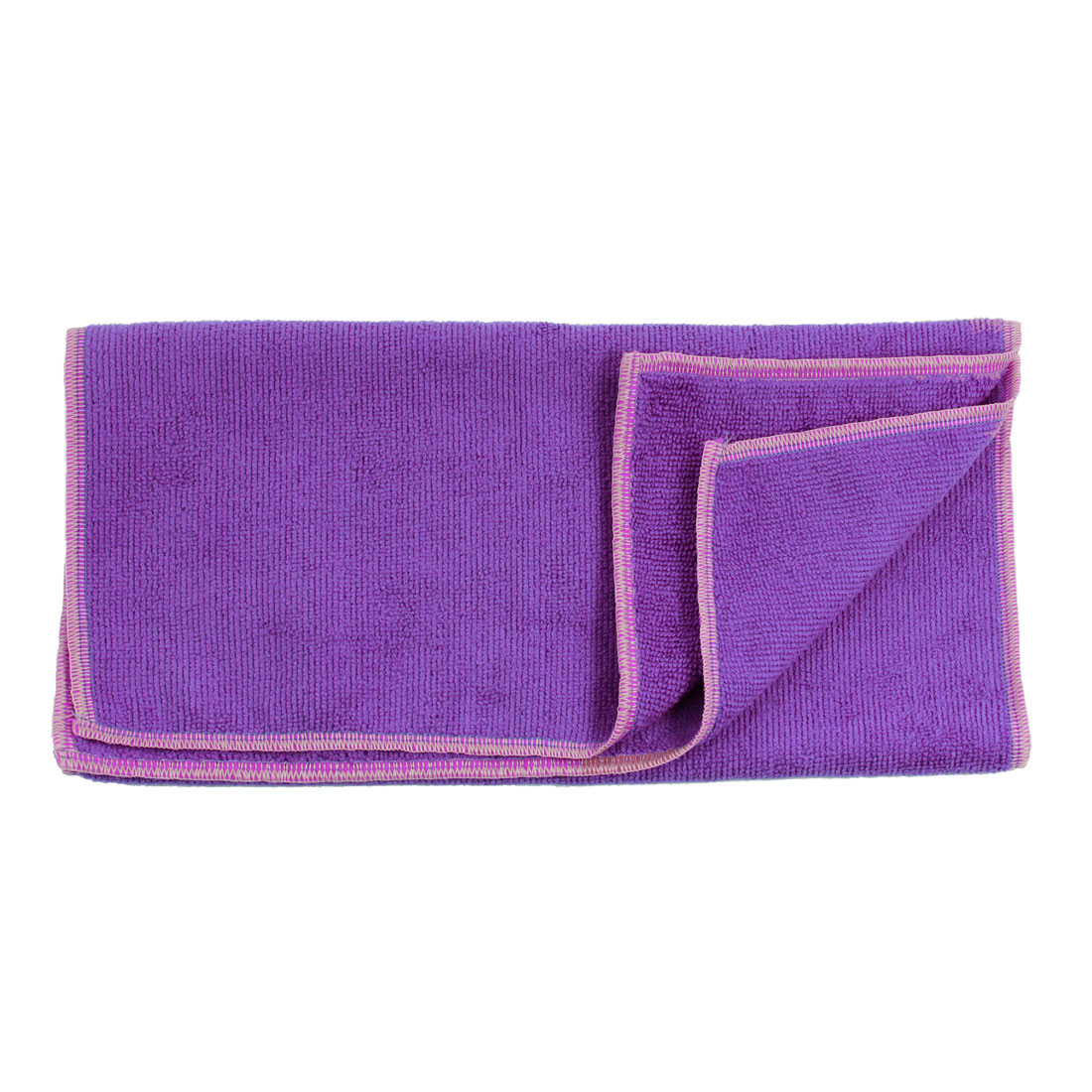 Purple Microfiber Car Door Glass Wash Clean Towel 63 x 32cm