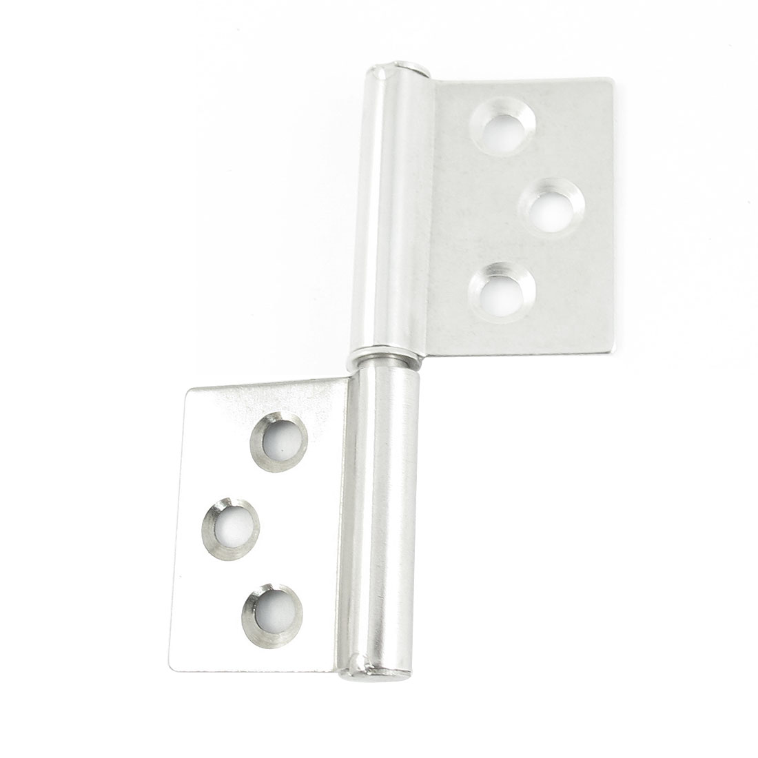 Silver Tone Metallic Window Flag Door Hinges Parts 7.5cm Long