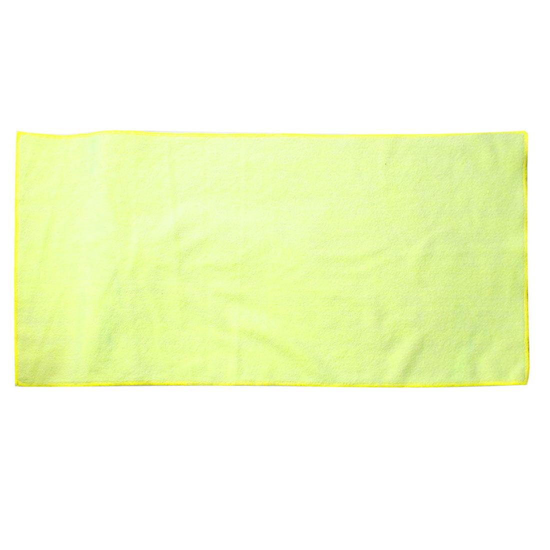 32cm x 63cm Yellow Face Hand Bath Washcloth Hair Dryer Towel for Families Hotel
