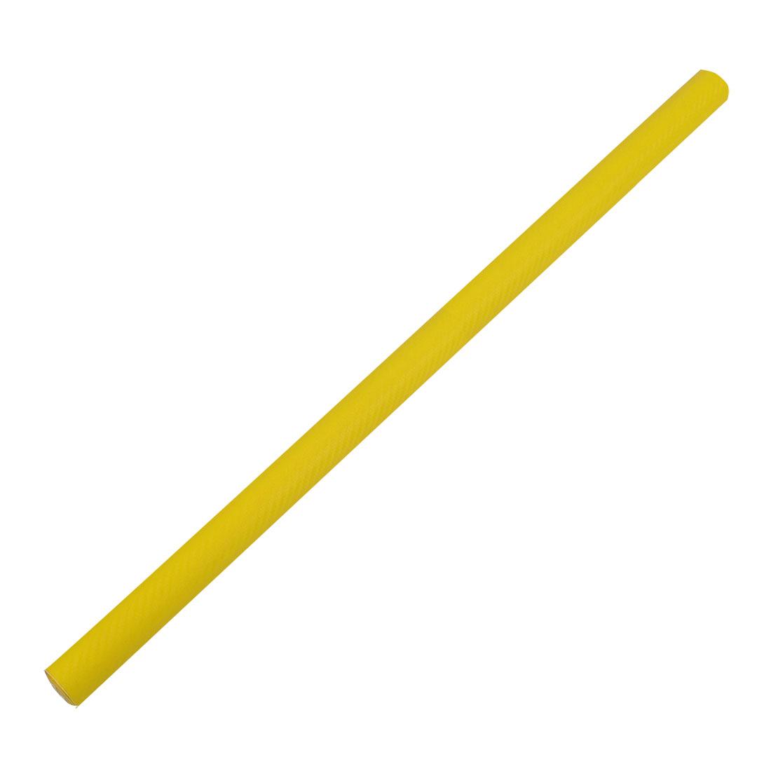 "3D Real Carbon Fiber Vinyl Wrap Sticker Roll Film Yellow 30"" x 59"" 5ft x 2.5ft"