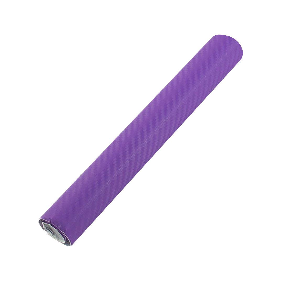 """6"""" x 50"""" 3D Texture Purple Carbon Fiber Sticker Vinyl Flexible Decal Film Wrap"""