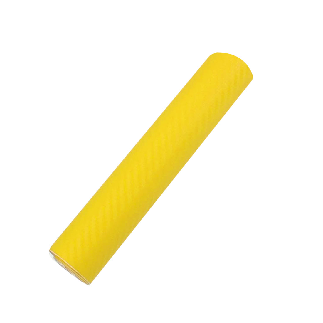 "4"" x 60"" 3D Texture Yellow Carbon Fiber Sticker Vinyl Flexible Decal Film Wrap"