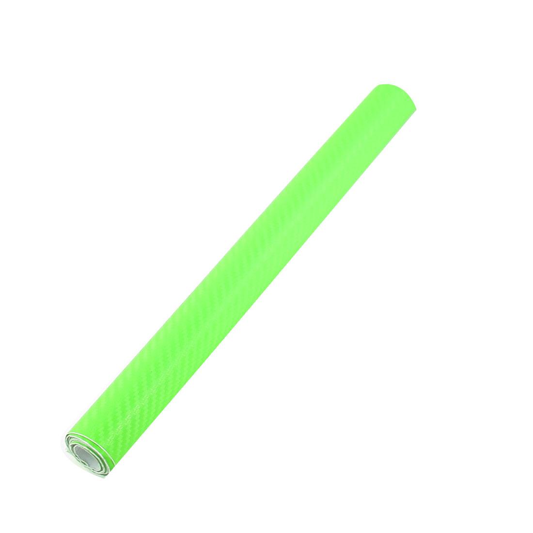 "12"" x 50"" 3D Texture Green Carbon Fiber Sticker Vinyl Flexible Decal Film Wrap"