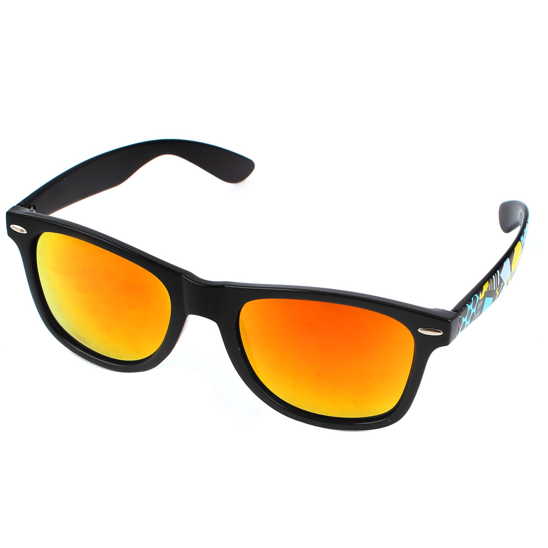 Multicolor Plastic Temple Full Frame Yellow Lens Sunglasses for Lady