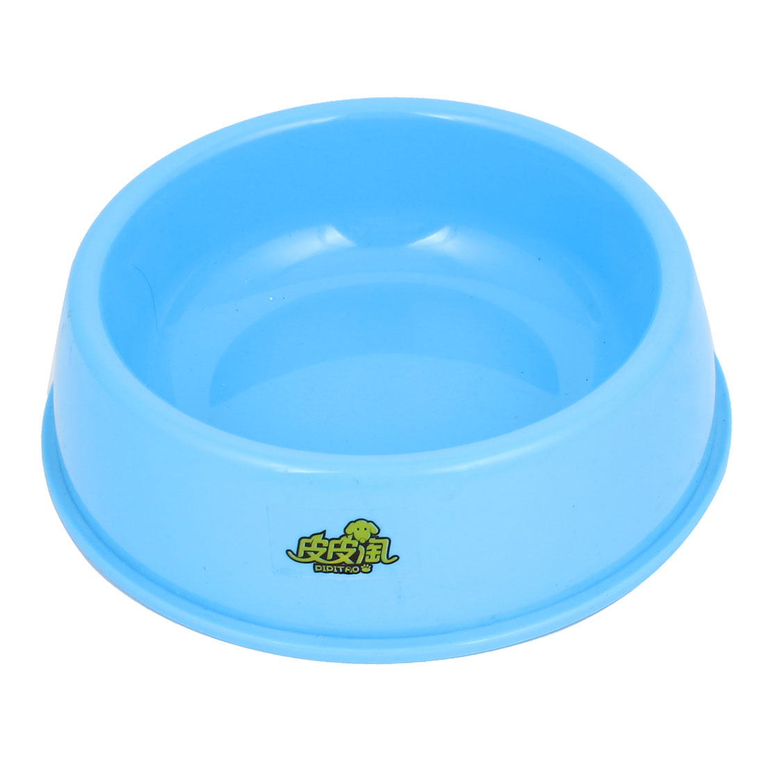 "8.3"" Diameter Doggie Dog Pet Plastic Eat Feeder Food Water Bowl Dish Blue"