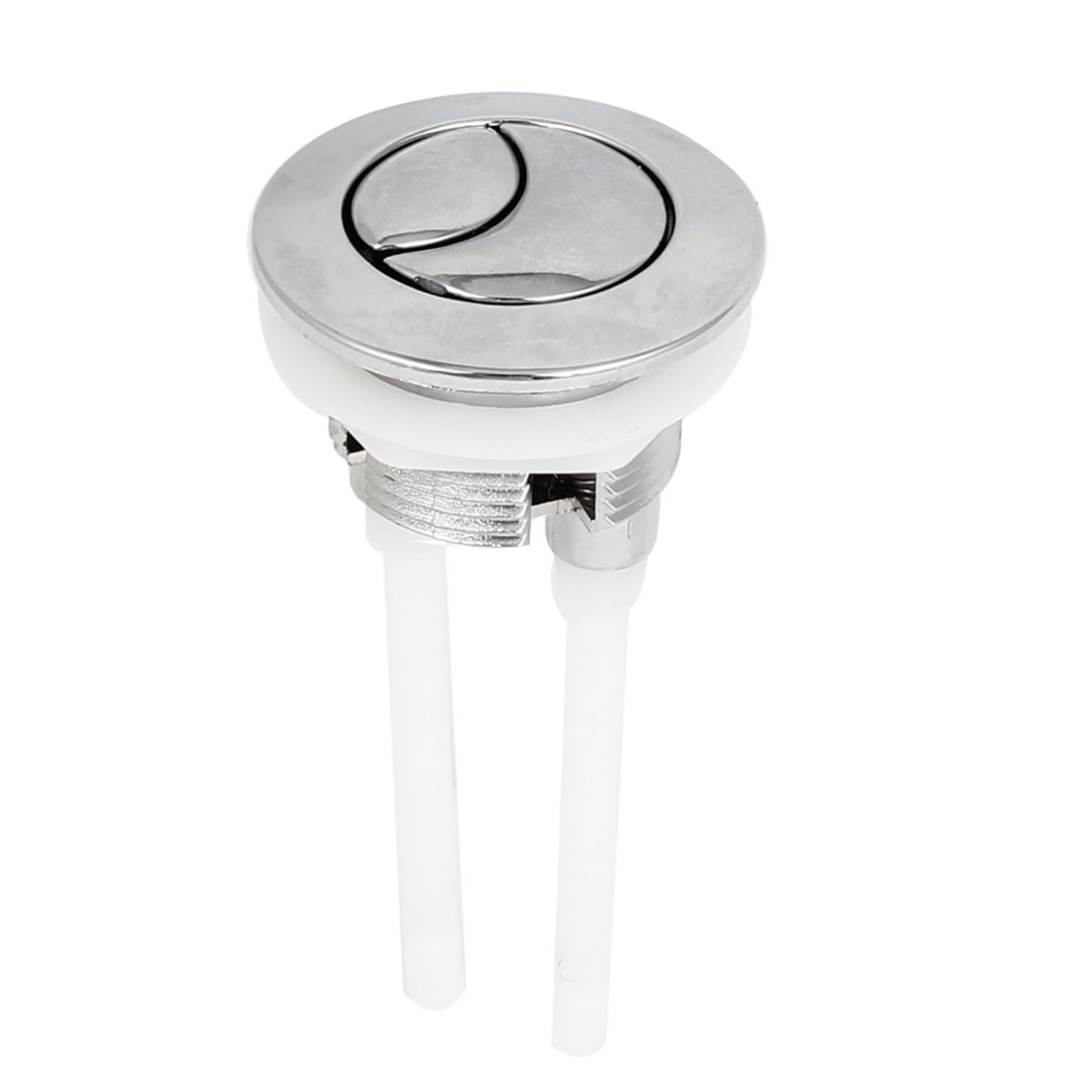 Round Shape 37mm Dia Thread Toilet Water Tank Double Push Button
