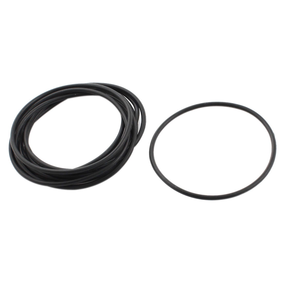 10pcs 60mm Outside Dia Rubber Washers O Ring Oil Seal Gaskets Black
