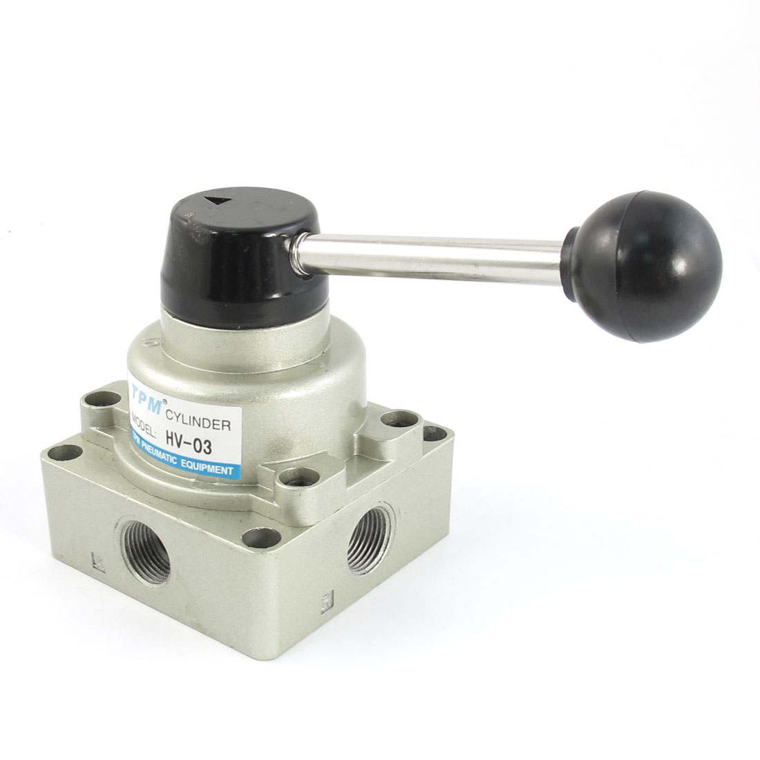 HV-03 3/8PT 4 Way 3 Position Hand Rotary Lever Valve Max.1.0 Mpa
